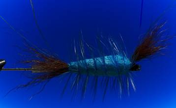 Tying the salmon tube bomber dry flies on tube 11