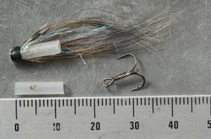 V-FLY: Super Riffling hitch fly on tube for salmon and steelhead