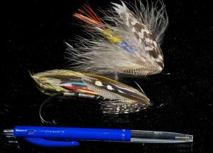 befor the tube fly:  Prehistoric giants # 10 - single hook flies - classic salmon flies