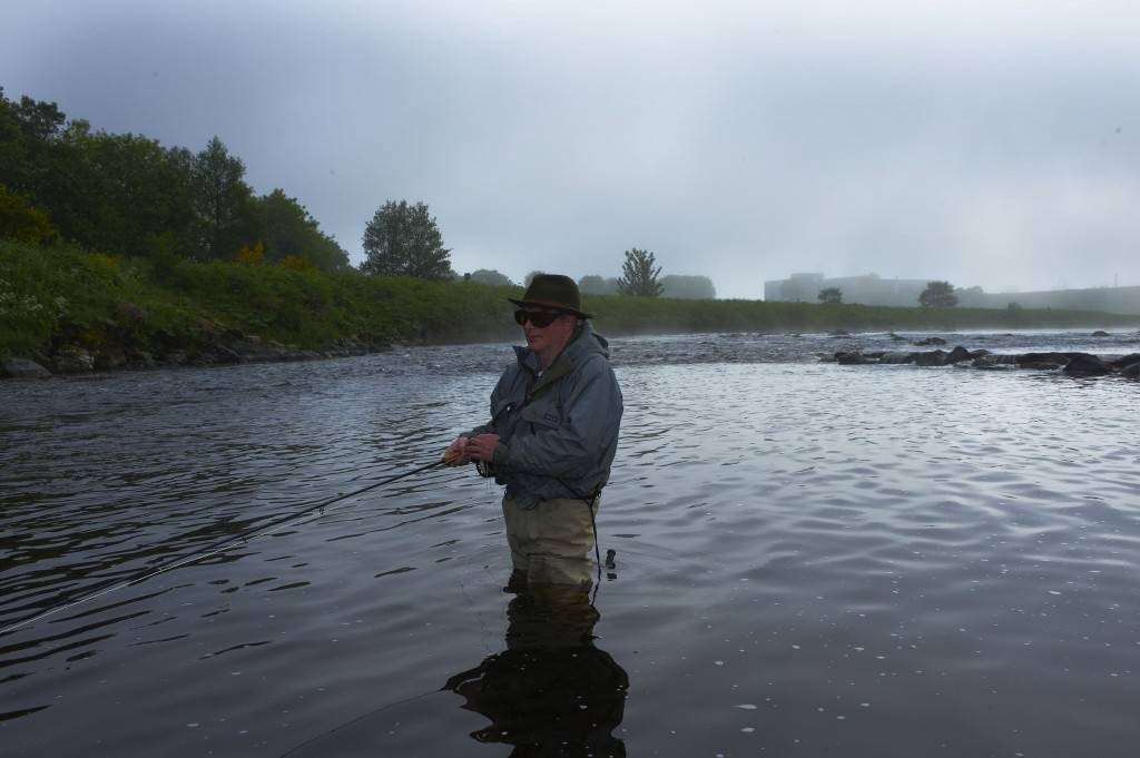 Jerry Rothman on North Esk river