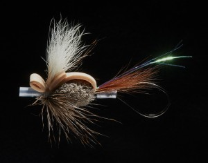 Quigley's Dragon Gurgler wake fly tied on tube