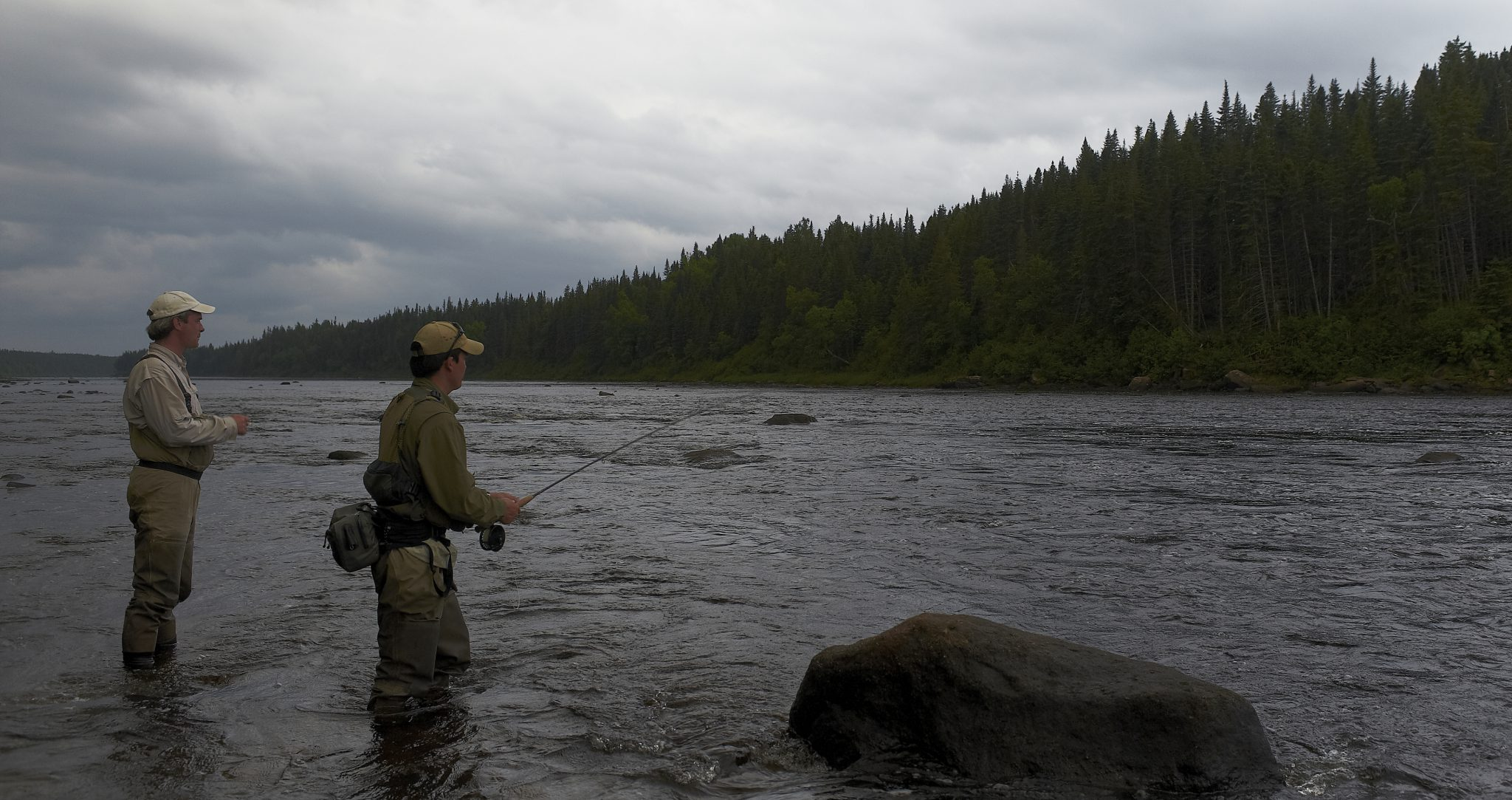 Ubber Humber salmon Bomber dry fly fishing