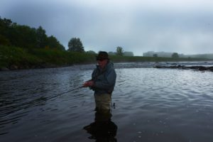 Jerry Rothman using Riffling Hitch on North Esk