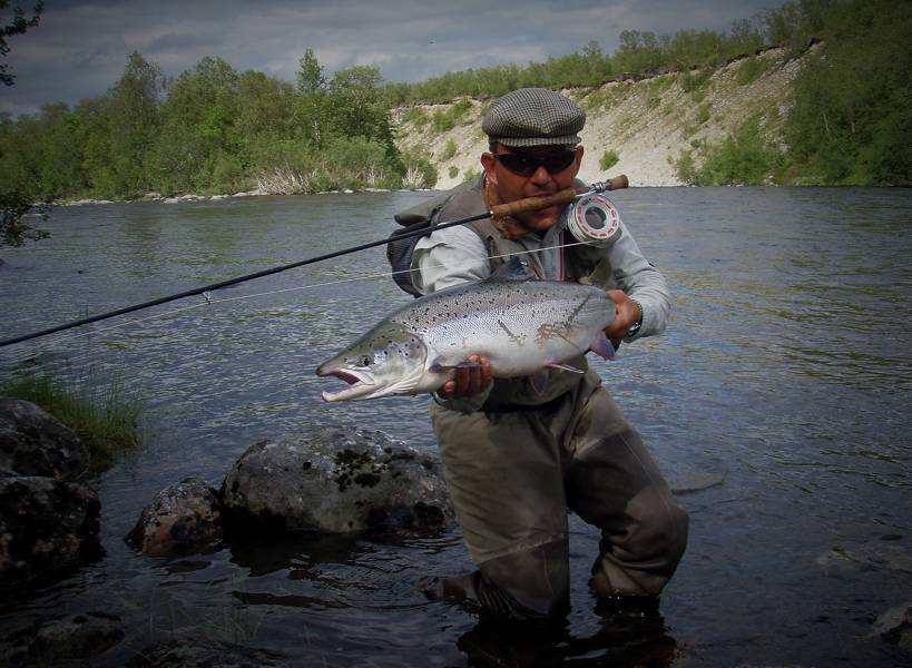 Mr. Anders Kok With Super Dry Fly Salmon