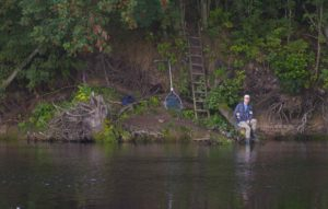 Salmon fishing in Lagan