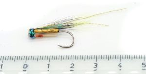 Gold Hitchman riffling hitch fly
