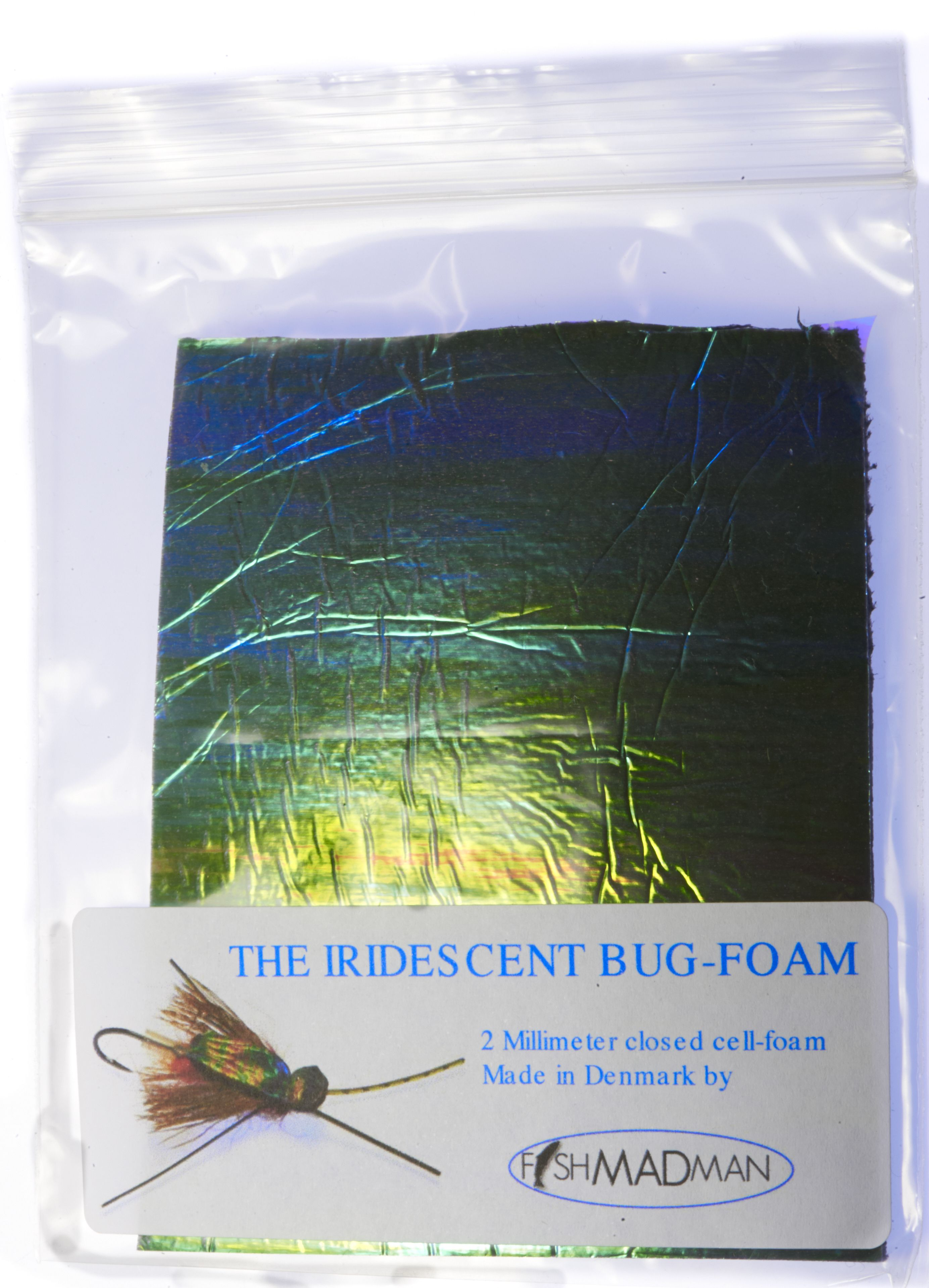 Iridescent closed-cell foam for fly tying