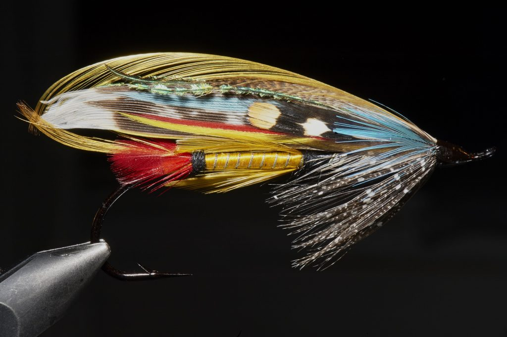 Jock Scott fly made for salmon