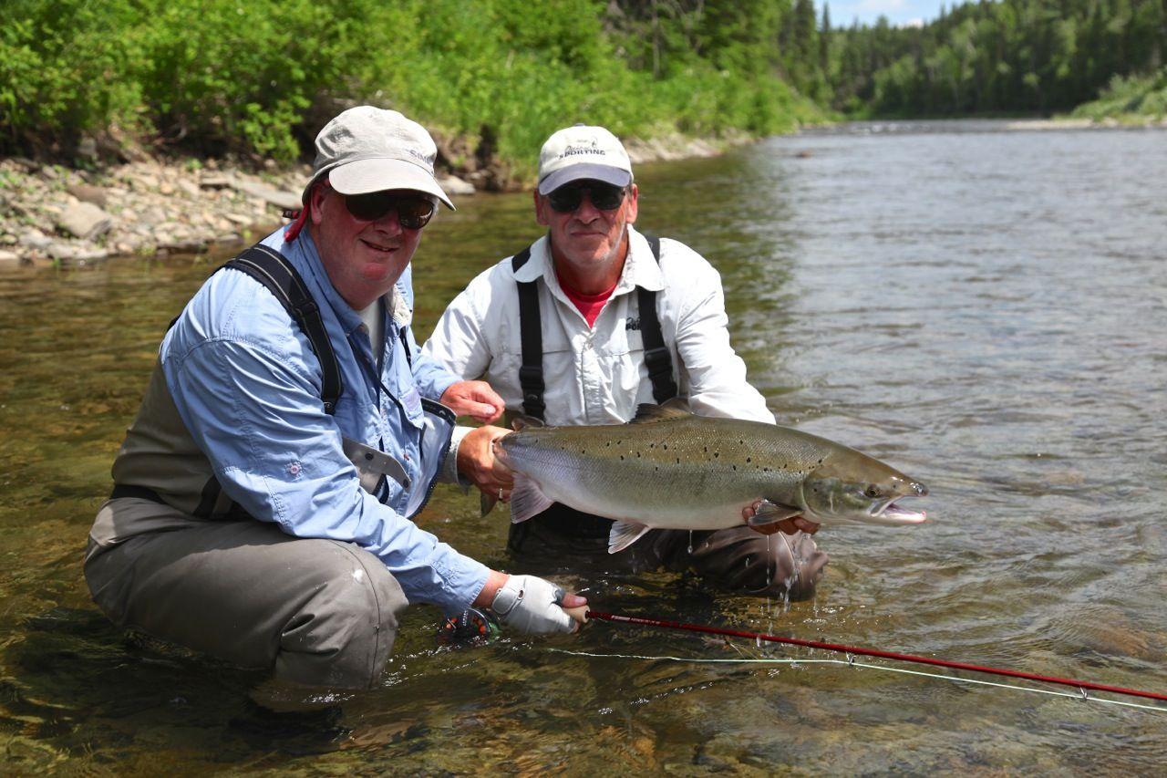 Ian Martin salmon caught on Monster Tube Caddis