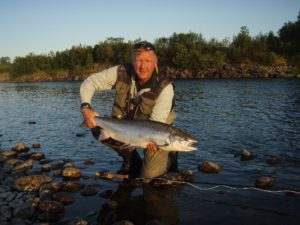 Thomas Lykke Salmon on dry fly monster tube caddis