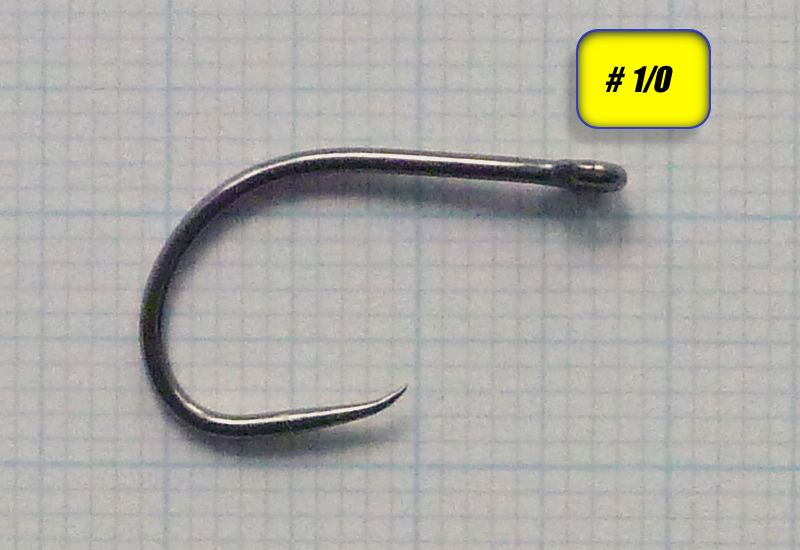 Barbless tube fly hook 1/0